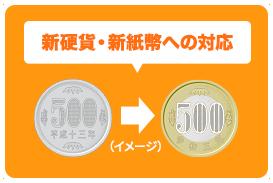 新硬貨・新紙幣への対応